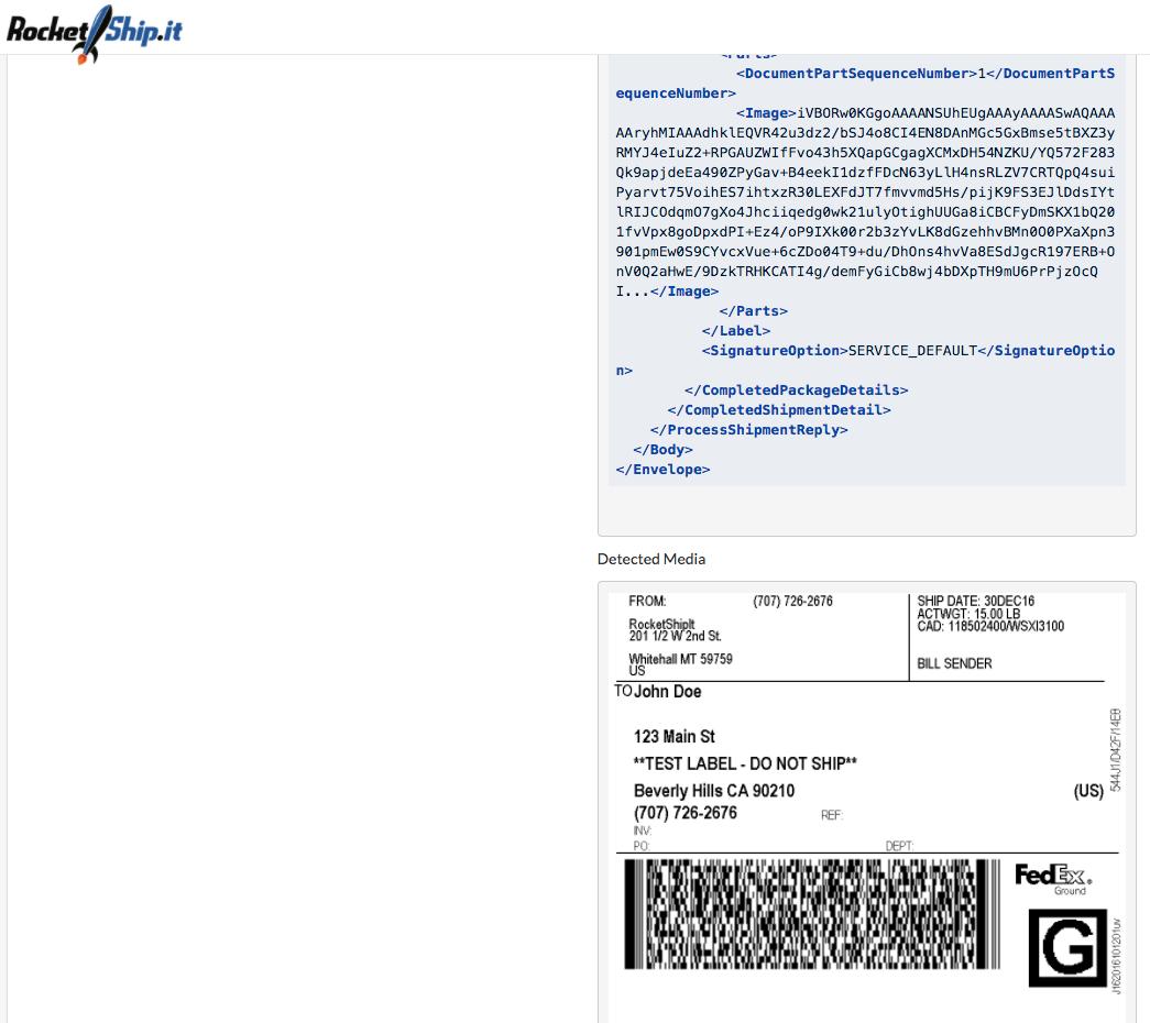 RocketShipIt 2 0 Documentation