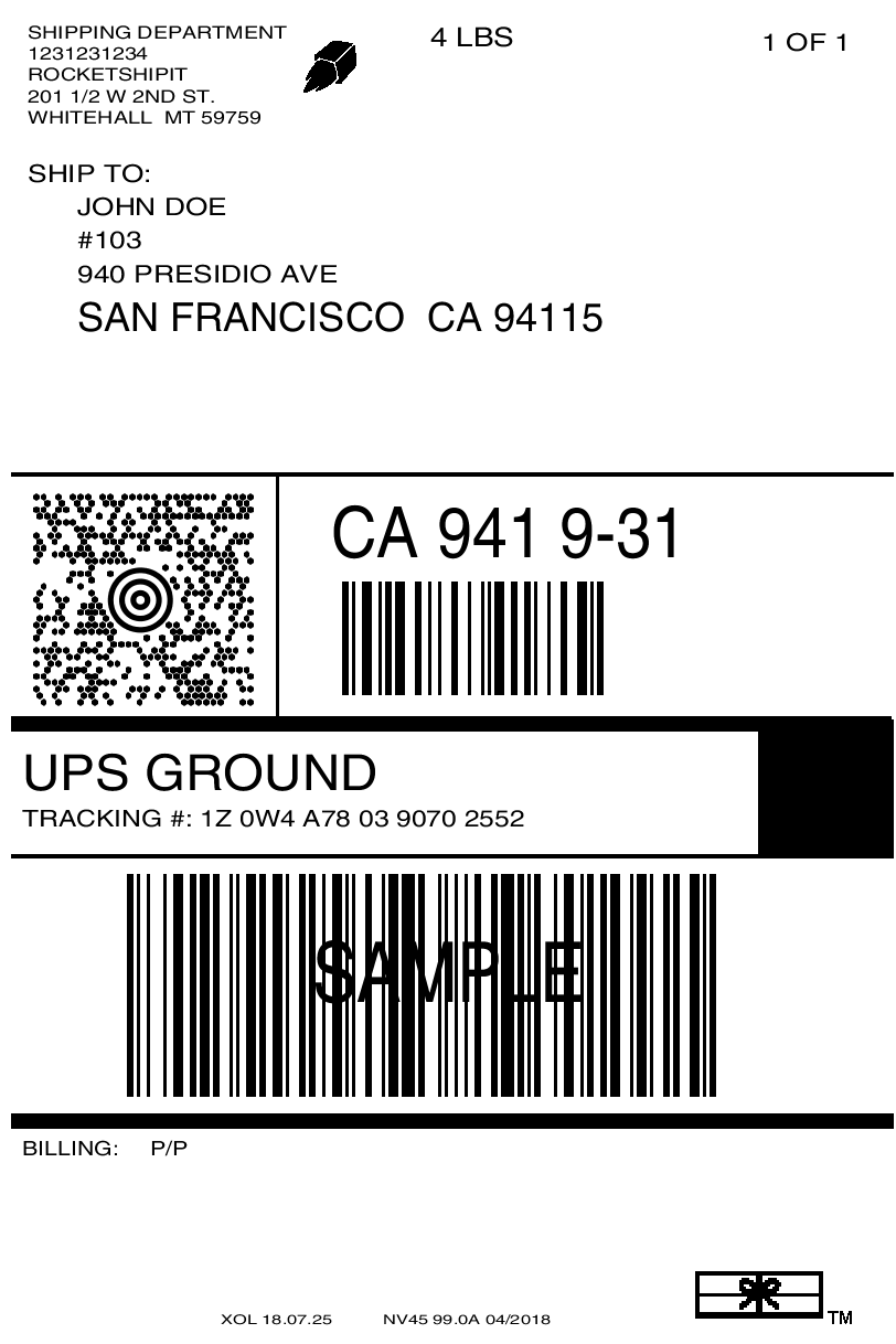 Add a logo to the shipping label · RocketShipIt